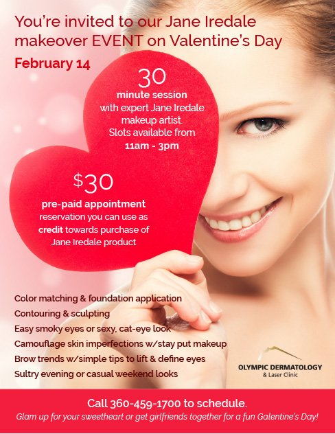 Valentineu0027s Day Jane Iredale Makeover EVENT