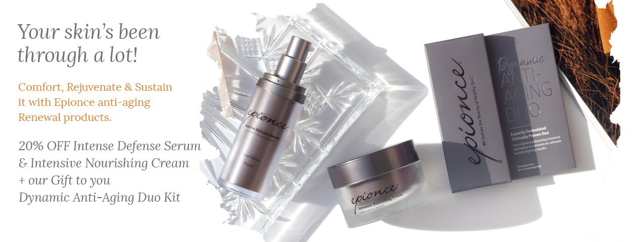 20% OFF Intense Defense Serum & Intensive Nourishing Cream