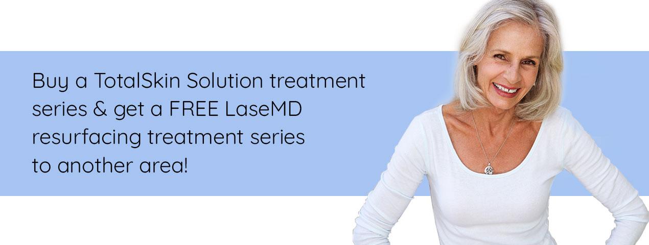 Get a FREE LaseMD resurfacing treatment series!